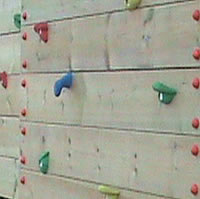 Climbing wall in school playground