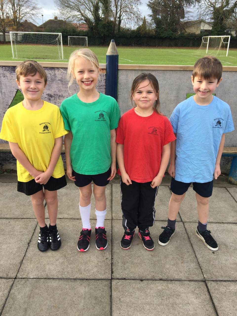 Children wearing PE kit